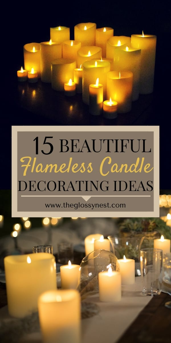 Astounding 15 Beautiful Home Decorating Ideas With Flameless Candles Home Interior And Landscaping Analalmasignezvosmurscom