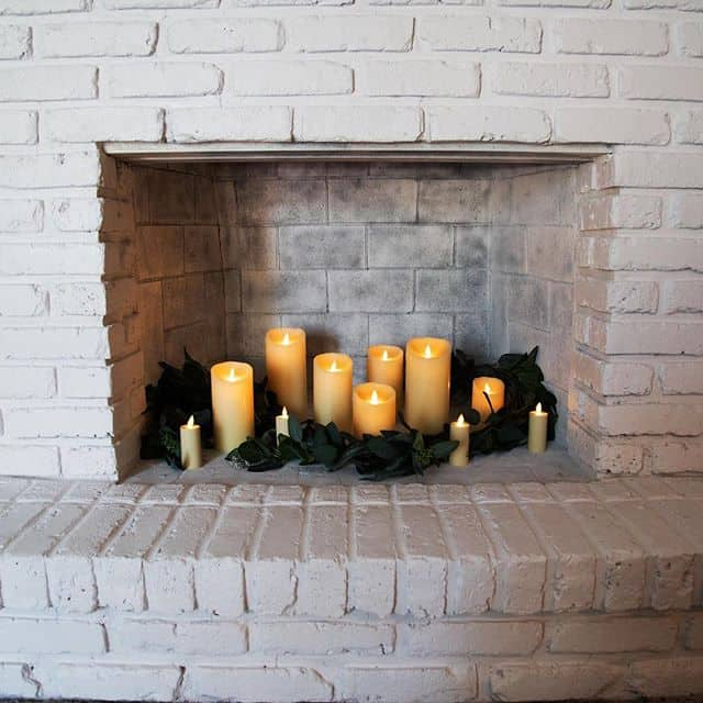 Candles In A Fireplace Pictures: 20 Simple Ways To Decorate A Fireplace & Mantle With