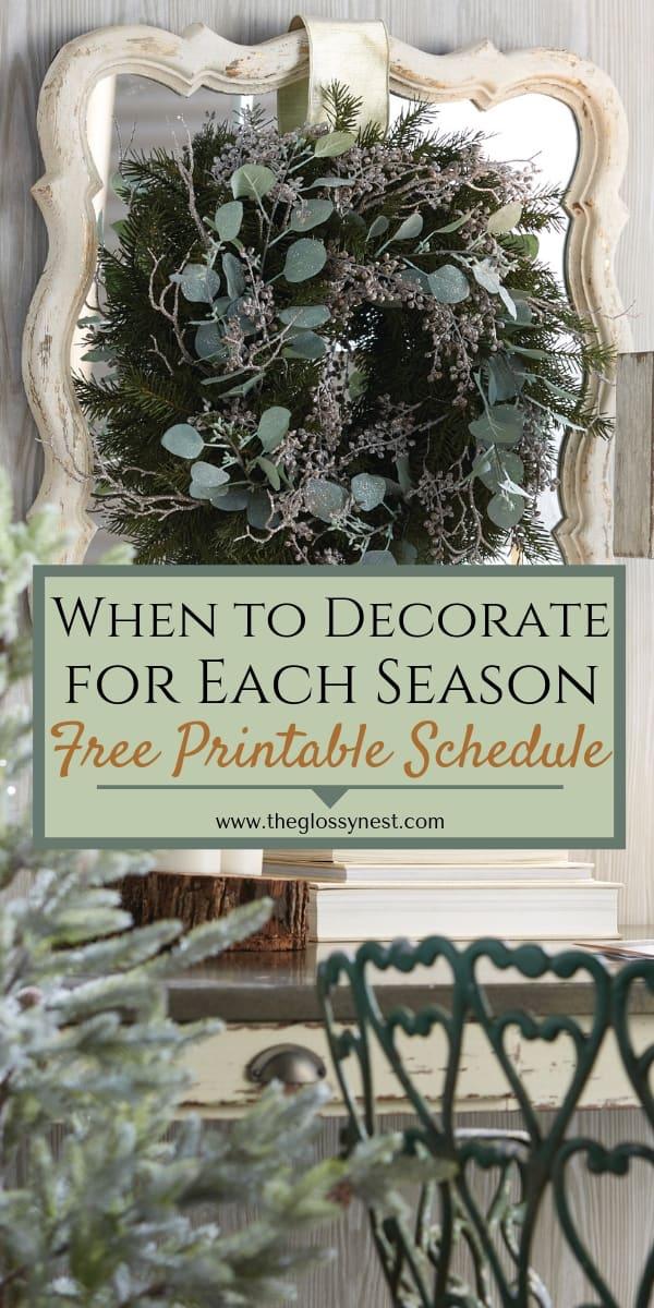 When to Decorate for Each Season: Printable Holiday